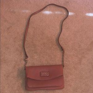Rose pink crossbody purse